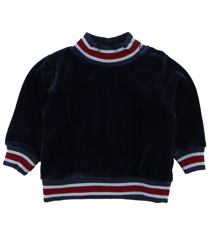 Image of Mini A Ture Bluse - Jannic - Velour - Navy (MA923)
