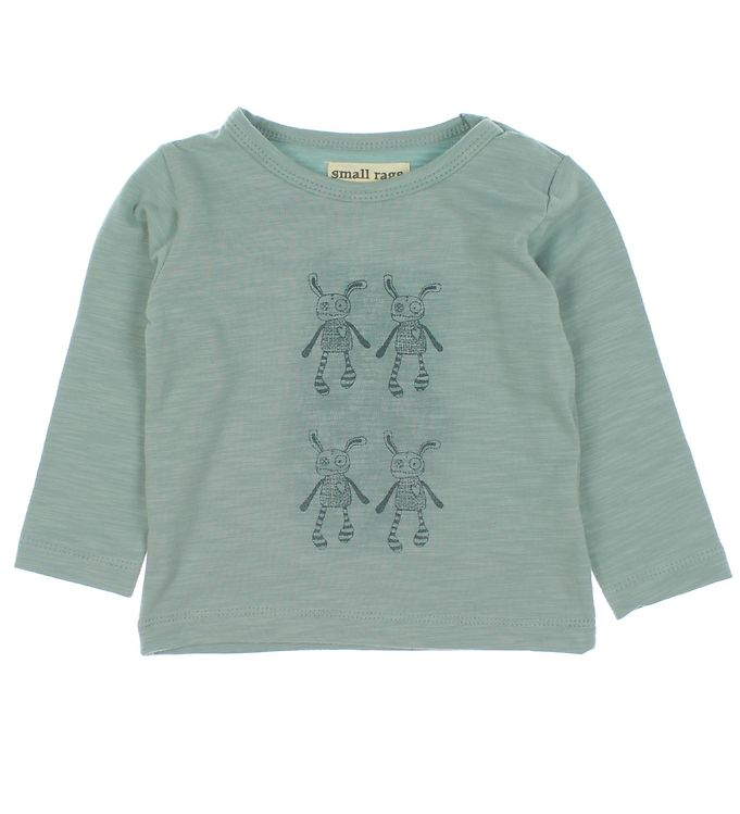 Image of Small Rags Bluse - Blå m. Print (MB319)
