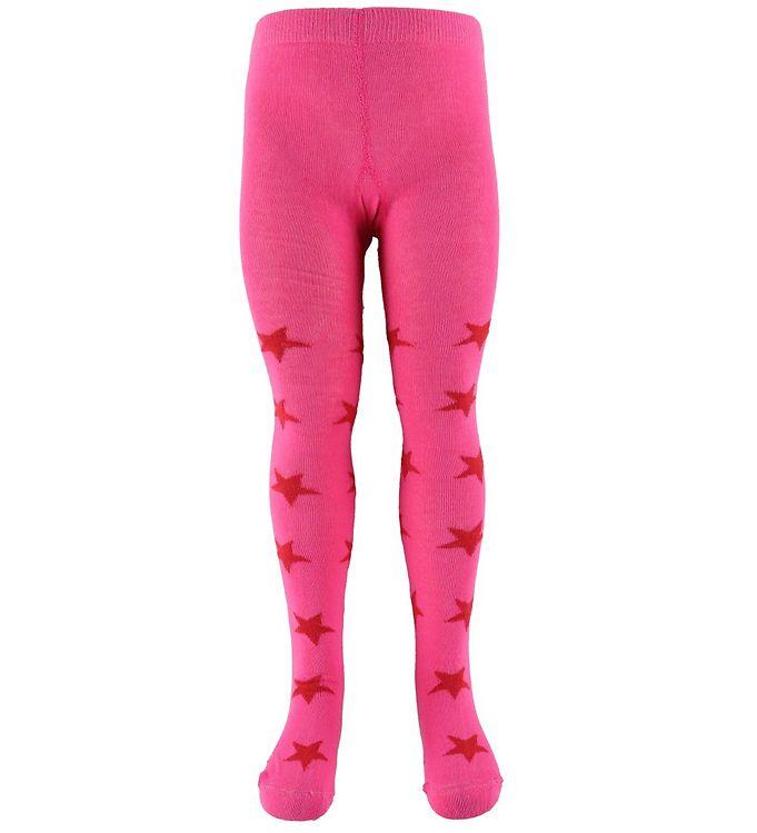 Minymo strømpebukser - pink m. stjerner fra minymo på kids-world