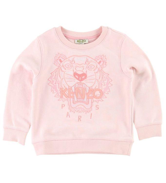 Kenzo sweatshirt - pudder m. tiger fra kenzo fra kids-world