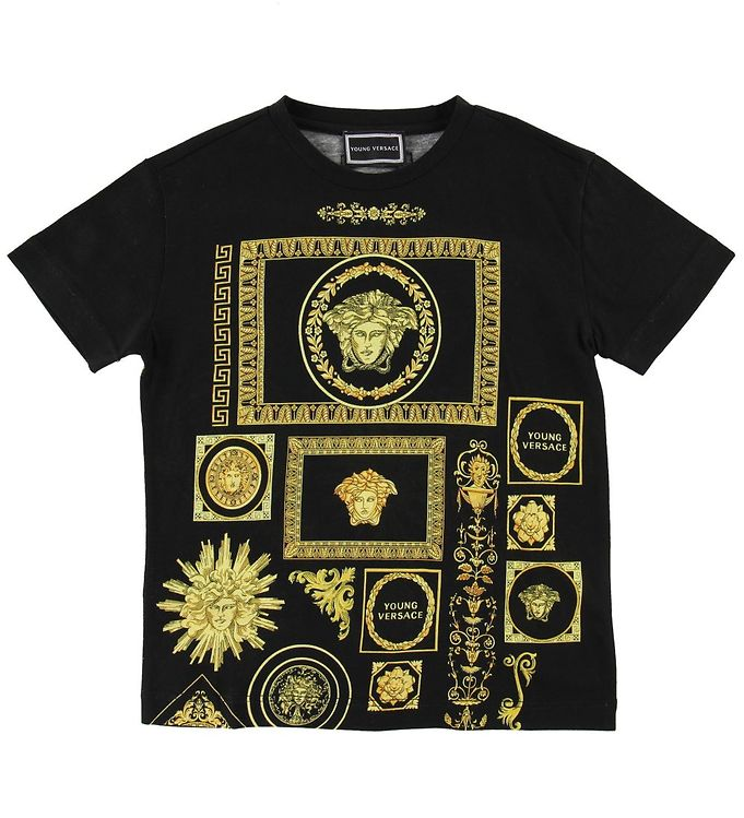 Young Versace T-shirt - Sort m. Guld