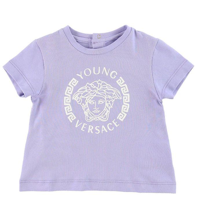 Young Versace T-shirt - Lavendel m. Logo