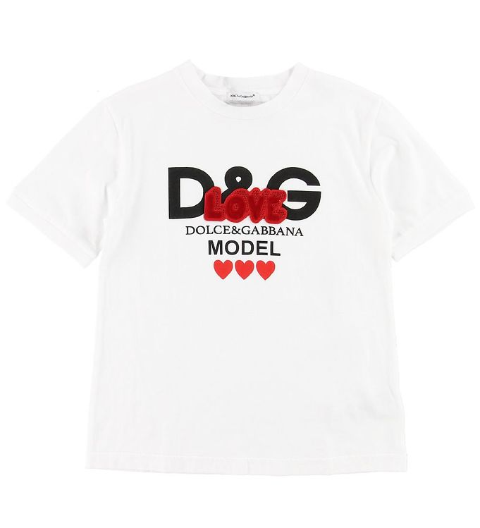 Dolce & Gabbana T-shirt - Hvid m. Print