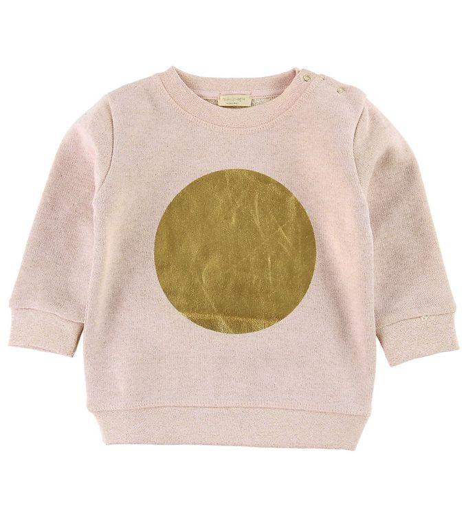 Image of Minipop Sweatshirt - Pudder m. Guld Cirkel (ME159)