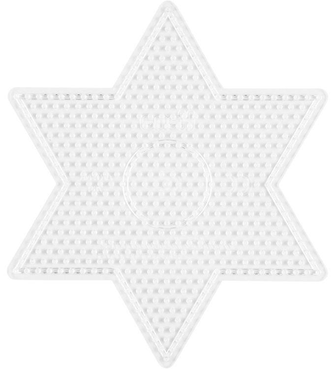 Image of   Hama Midi Perleplade - Stor Stjerne - Transparent
