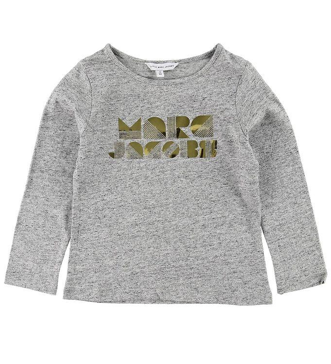 Image of Little Marc Jacobs Bluse - Gråmeleret m. Guld (ME498)