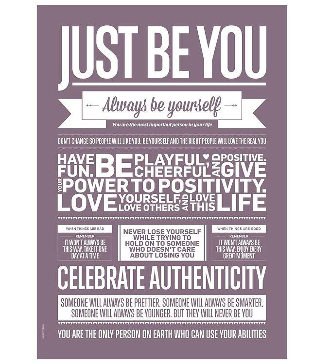 Image of I Love My Type Plakat - A3 - Love Typography - Just Be You (ME721)