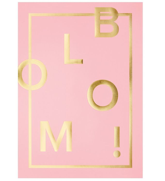 Image of I Love My Type Plakat - A3 - Bloom! - Rosa (ME725)