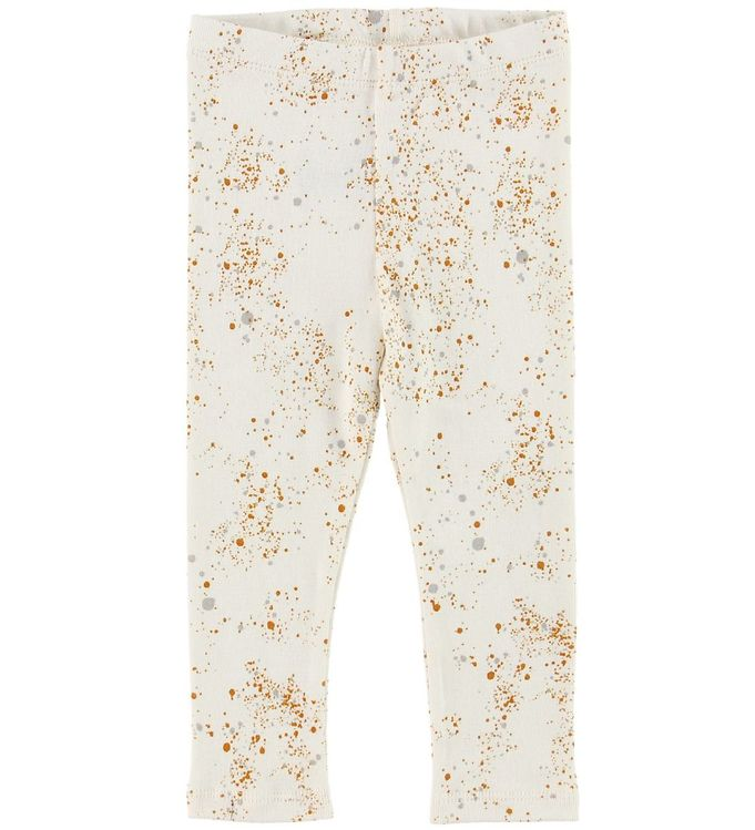 soft gallery – Soft gallery leggings - paula - mini splash - creme på kids-world