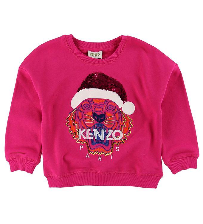 kenzo Kenzo sweatshirt - pink m. nissehue på kids-world