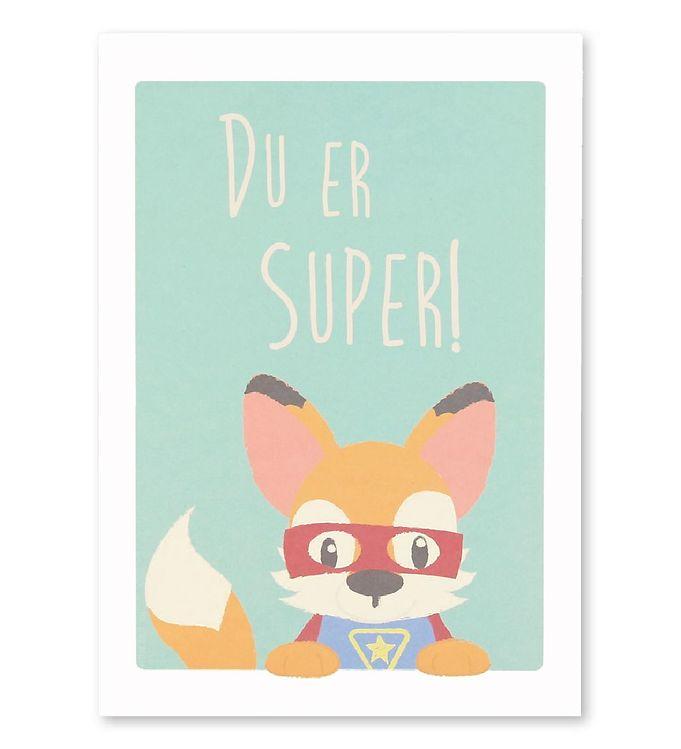 Image of Studio Circus Plakat - A4 - Ræv m. Du Er Super (MF570)