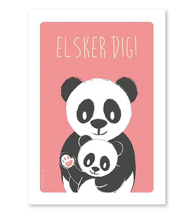 Image of Studio Circus Plakat - A4 - Pandaer m. Elsker Dig (MF575)