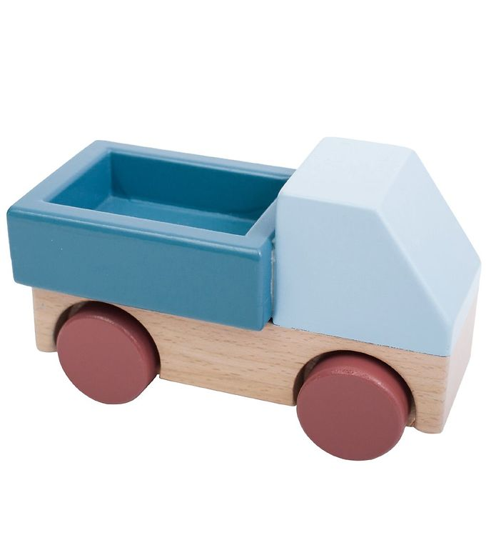 Sebra Trælegetøj - Lastbil - Blå - 07 - Sebra,Sebra Babylegetøj,Sebra Legetøjsbiler,Sebra Trælegetøj - Sebra