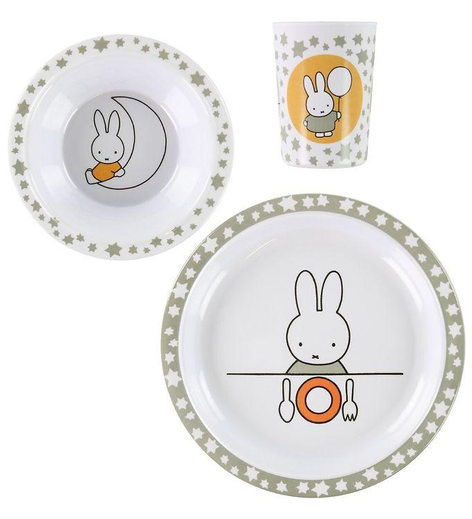 Teddykompaniet Spisesæt - Melamin - Miffy