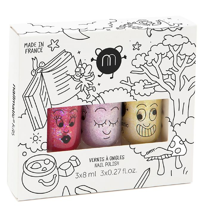 nailmatic – Nailmatic 3-pak neglelak - magic forest fra kids-world