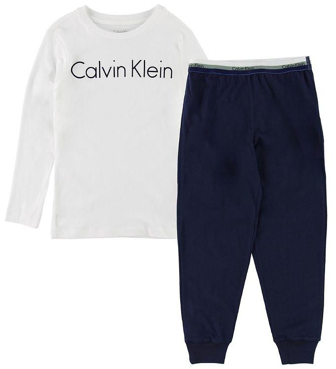 Image of Calvin Klein Nattøj - Hvid/Navy (MG304)