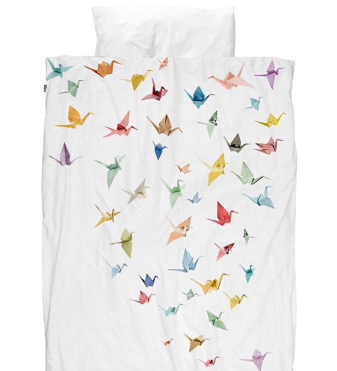 Image of   Snurk Sengetøj - Voksen - Origami Fugle