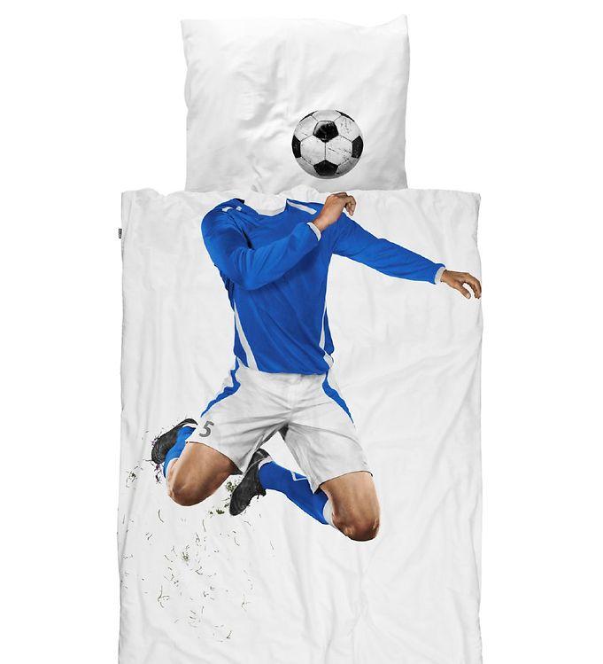 Image of   Snurk Sengetøj - Junior - Blå Fodboldspiller