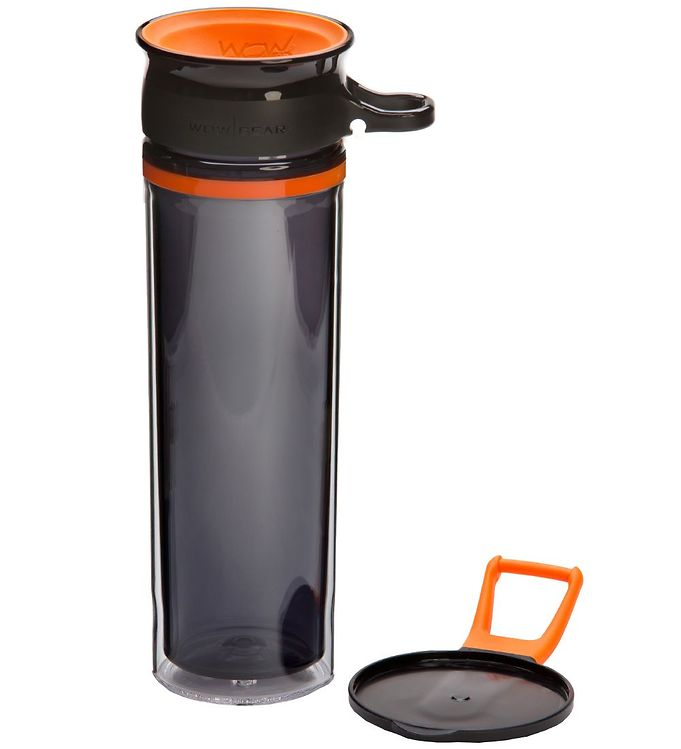Image of Wow Cup Drikkedunk - Tritan - 600 ml - Orange/Sort (MG783)