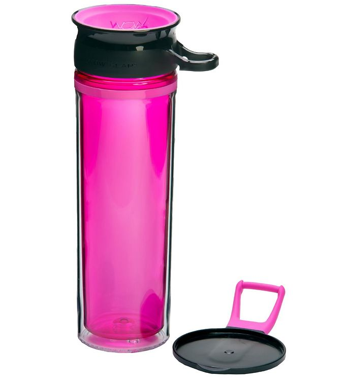 Image of Wow Cup Drikkedunk - Tritan - 600 ml - Pink/Sort (MG788)