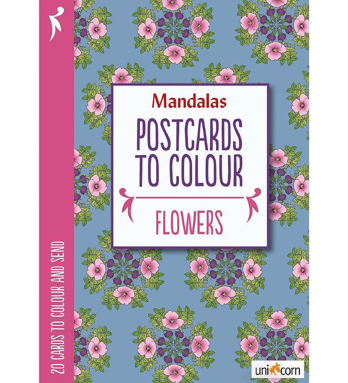 Mandalas Postkort - 20 stk - Blomster