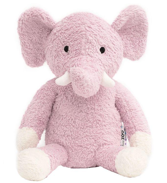 Image of NatureZoo Bamse - 18 cm - Teddyfleece - Elefant - Rosa (MI464)