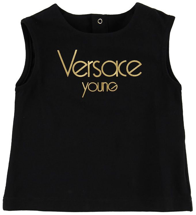 Image of Young Versace Top - Sort m. Guld (MI494)