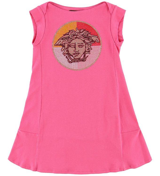 Image of Young Versace Kjole - Pink m. Medusa/Nitter (MI499)