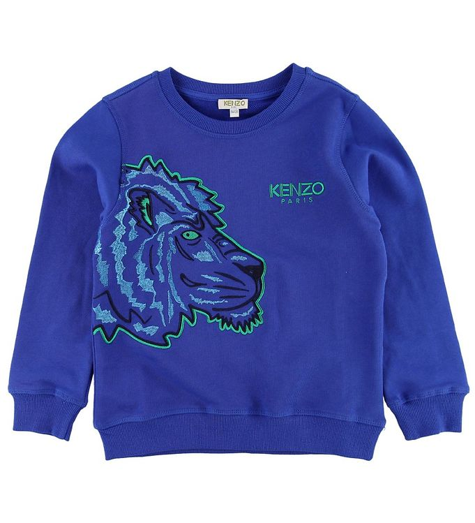 Image of Kenzo Sweatshirt - Blå m. Tiger (MJ120)