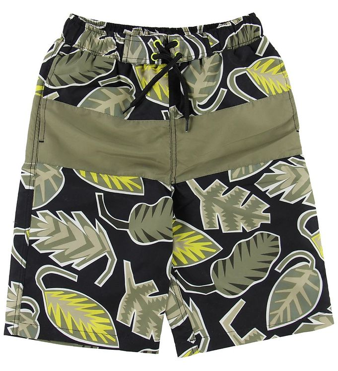 Image of Stella McCartney Kids Badeshorts - Armygrøn m. Blade (MJ201)