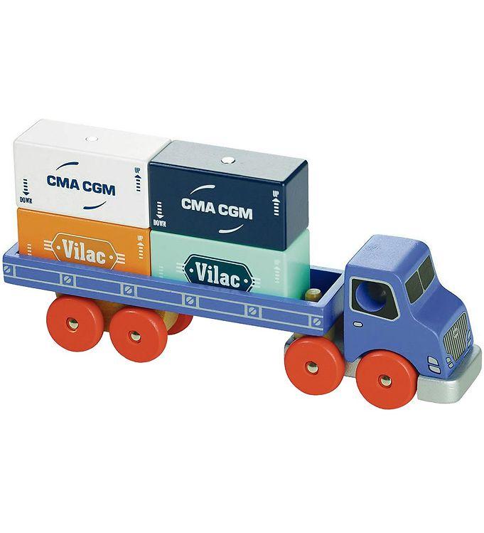 Vilac Containerlastbil - Blå - Vilac,Vilac Legetøjsbiler,Vilac Trælegetøj - Vilac