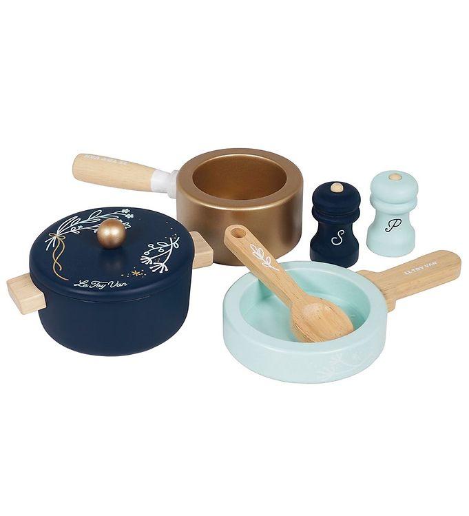 Le Toy Van Legetøjssæt - Honeybake - Gryder & Pander - Le Toy Van,Le Toy Van Legekøkken,Le Toy Van Trælegetøj,Madlavning - Le Toy Van