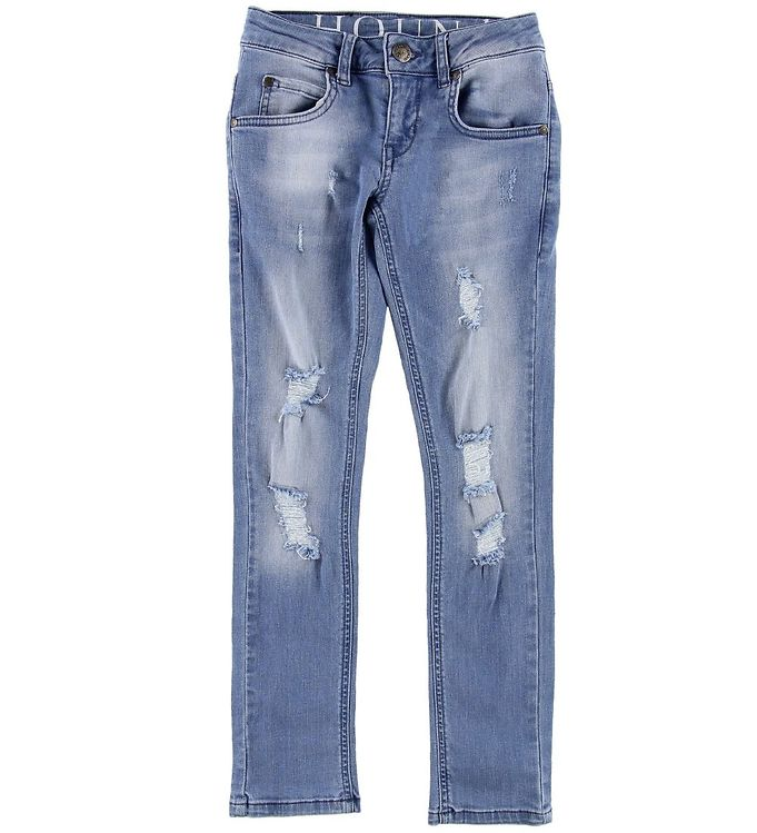 Image of   Hound Jeans - Xtra Slim Ripped - Light Used Denim
