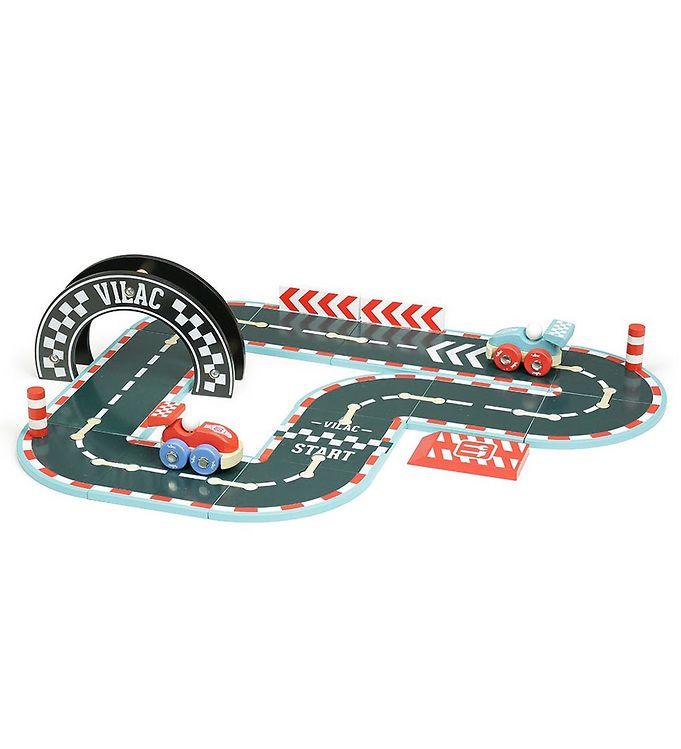 Vilac Racerbane - Sort m. Rød - Vilac,Vilac Legetøjsbiler,Vilac Trælegetøj - Vilac