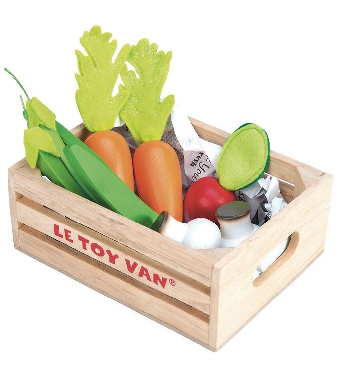 Le Toy Van Legemad - Honeybake - Grøntsager - Le Toy Van,Le Toy Van Legekøkken,Le Toy Van Legemad,Le Toy Van Trælegetøj,Madlavning - Le Toy Van