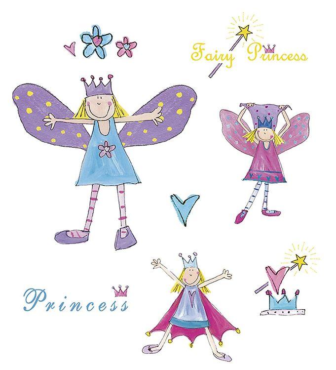 Image of Room Mates Wallstickers - Feer & Prinsesser (MJ693)