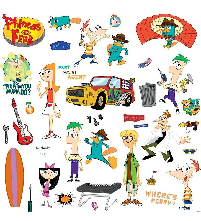 Image of Room Mates Wallstickers - Phineas & Ferb (MJ700)