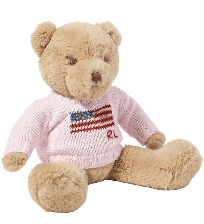 Image of   Polo Ralph Lauren Bamse m. Sweater - 20 cm - Lyserød