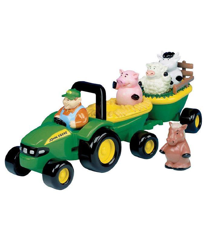 Image of John Deere Arbejdsbil - Traktor m. Dyr (MJ886)