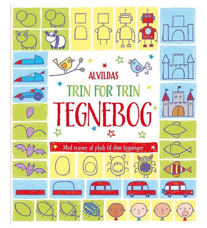 Image of Alvilda Malebog - Trin For Trin Tegnebog (MJ972)