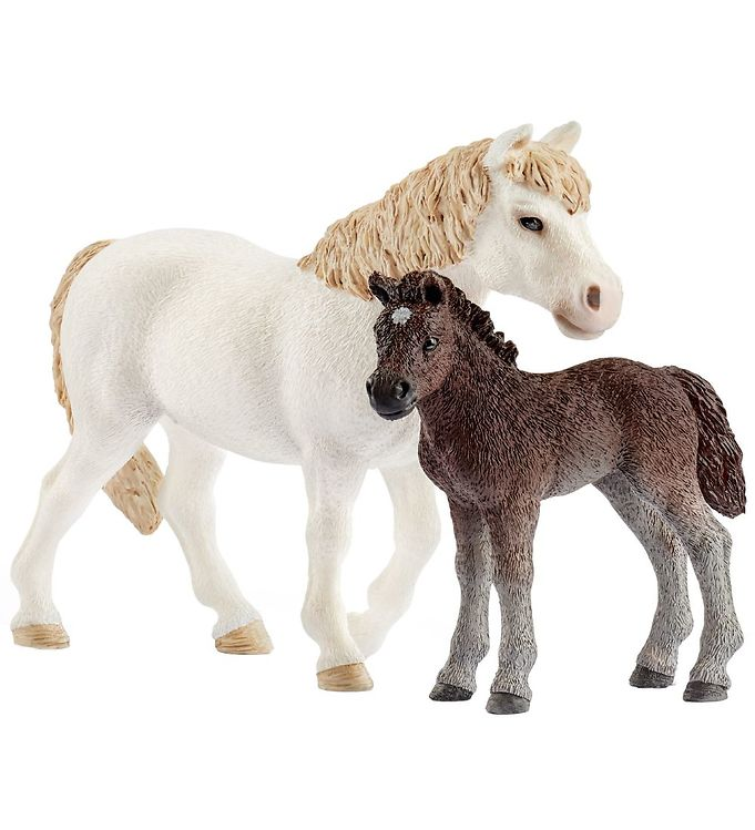 Schleich Farm World - Pony Hest & Føl