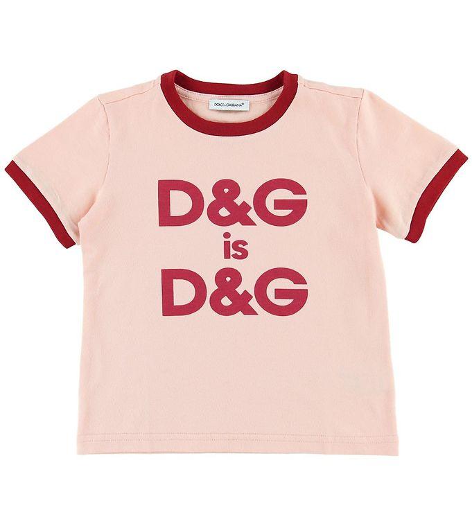Image of Dolce & Gabbana T-shirt - Lys Koral/Rød (MK662)