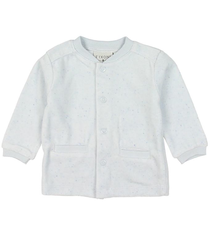 Image of Fixoni Cardigan - Velour - Baby Blue (MK922)