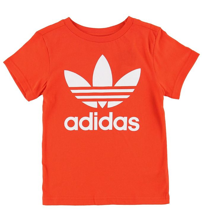 Image of adidas Originals T-shirt - Trefoil - Varm Orange (MK984)