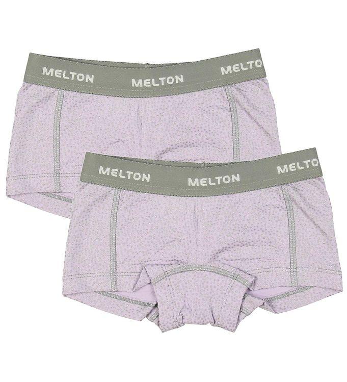Melton Hipsters - 2-pak - Lavendel m. Glimmerprikker