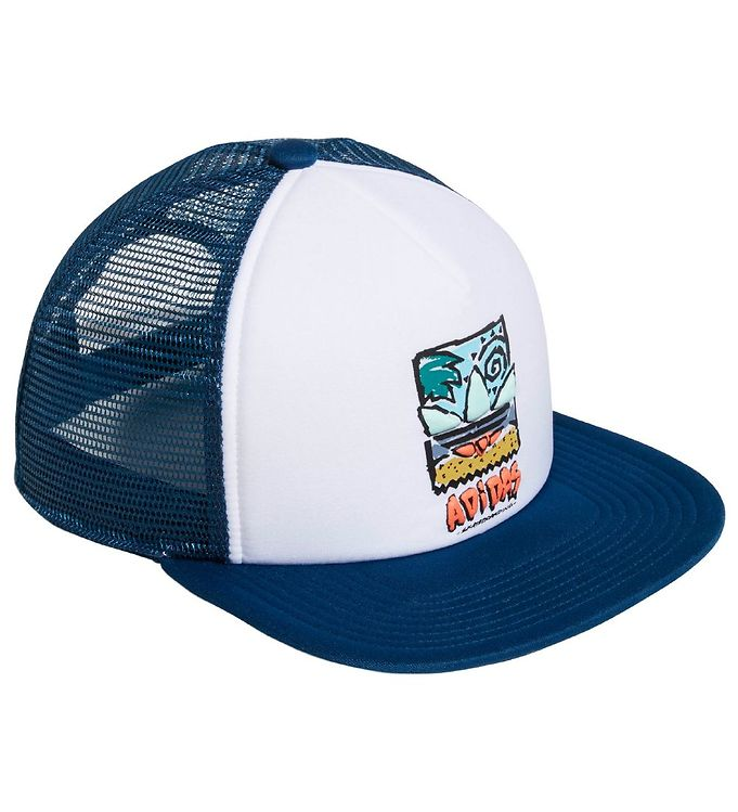 Image of adidas Originals Kasket - BB38 Trucker - Hvid/Mørk Petroleum (ML736)
