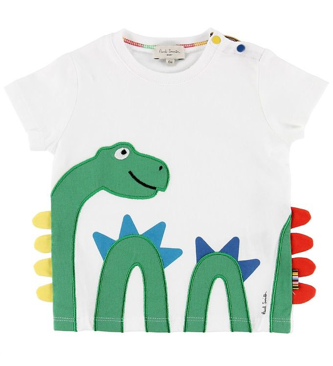 Image of Paul Smith Baby T-shirt - Telmo - Hvid m. Søslange (ML748)