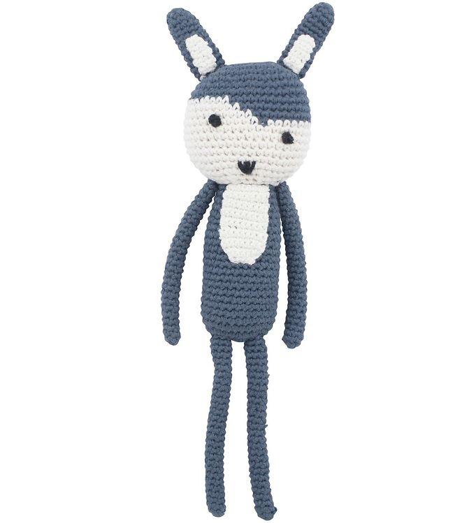 Image of Sebra Bamse - Kaninen Siggy - 28 cm - Royal Blue (ML769)