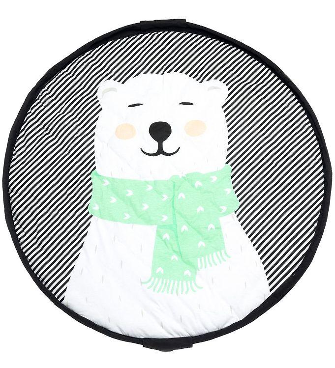 Image of Play&Go Legetøjstæppe - Soft - Ø120 cm - Polar Bear (ML960)