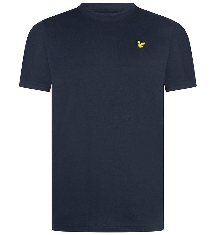 Image of Lyle & Scott Junior T-shirt - Navy m. Logo (MN050)